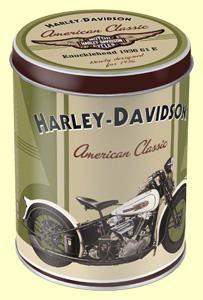 Harley Davidson kerek fémdoboz