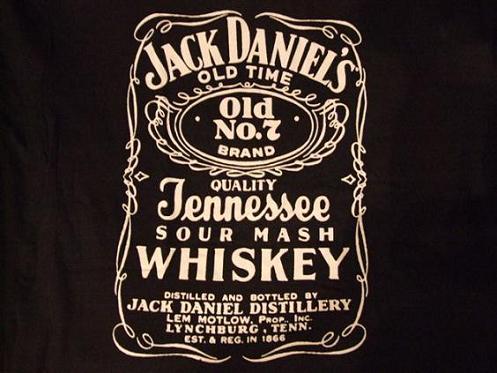 Jack Daniels fekete feliratos póló
